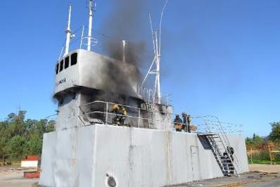 Simulador de un buque en Seganosa